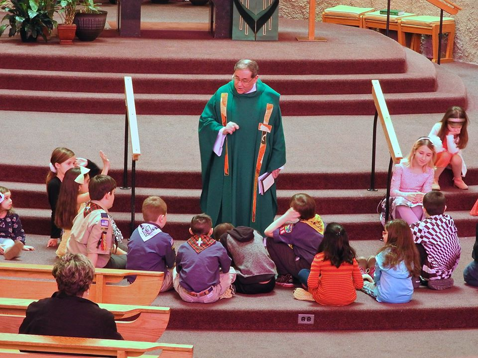 Children's mass and blessing of the scouts